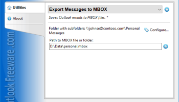 Export Messages to MBOX for Outlook screenshot