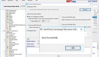 eSoftTools EDB to PST Converter screenshot