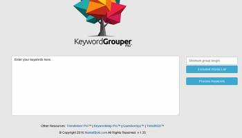 Keyword Grouper Pro screenshot