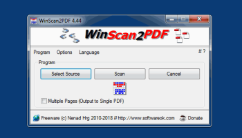 WinScan2PDF screenshot