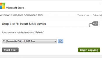 Windows 7 USB/DVD Download Tool screenshot