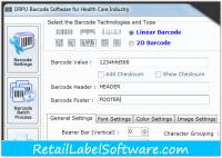 Healthcare Barcode Label Software screenshot