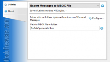 Export Messages to MBOX File screenshot