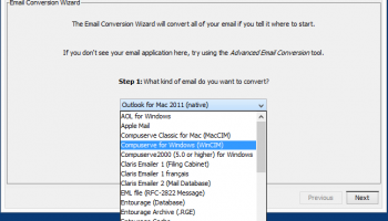Emailchemy for Windows screenshot