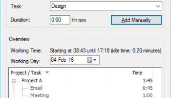 TimeSheet screenshot