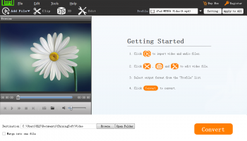 Shining MP4 Converter screenshot