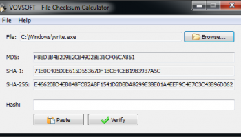 File Checksum Calculator screenshot