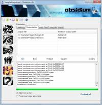 Obsidium Software Protection System x64 screenshot