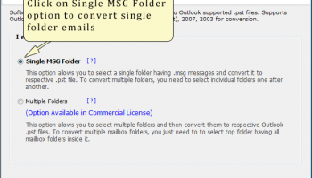 Import MSG to Outlook screenshot