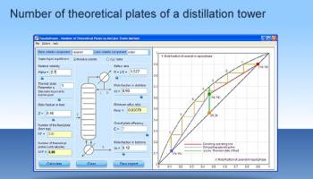 MCTH - McCabe Thiele Plates Calculator screenshot
