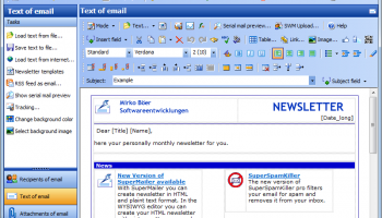 Newsletter Software SuperMailer screenshot