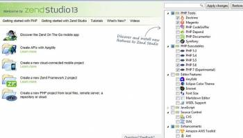 Zend Studio screenshot