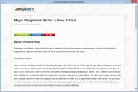 Magic Assignment Writer screenshot