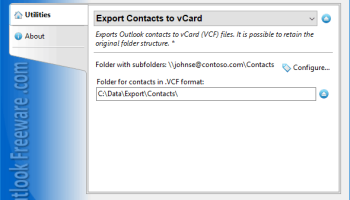 Export Contacts to vCard for Outlook screenshot
