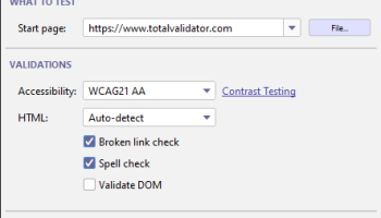 Total Validator Test screenshot