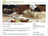 XWhite Template ApPHP Restaurant Site screenshot