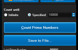 Prime Number Counter screenshot