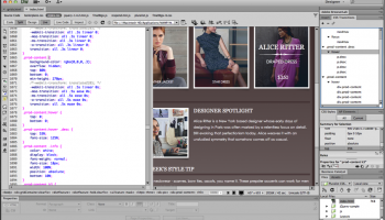 Adobe Dreamweaver CS6 screenshot