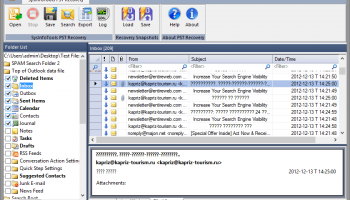 Outlook Recovery Software screenshot