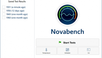 NovaBench screenshot