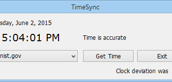 HS TimeSync screenshot