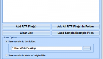 RTF To TIFF Converter Software screenshot