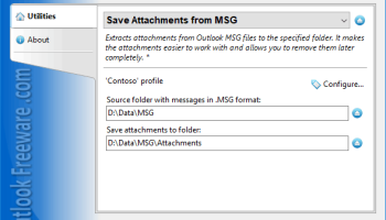 Save Attachments from MSG for Outlook screenshot