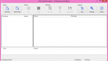 File Email Scraper screenshot