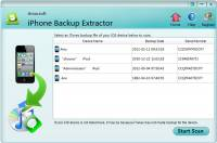 Amacsoft iPhone Backup Extractor screenshot