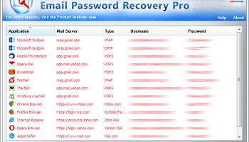 XenArmor Email Password Recovery Pro screenshot