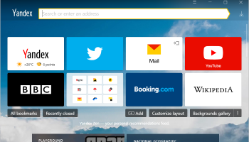 Yandex Browser screenshot