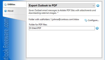 Export Outlook to PDF screenshot