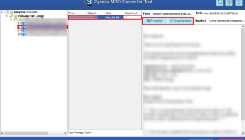 SysInfoTools MSG to PST Converter screenshot