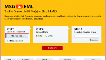 Mail Convert MSG to EML screenshot