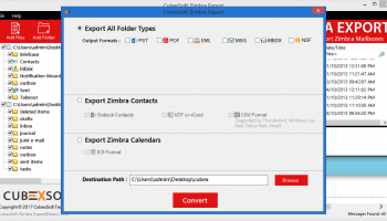 Zimbra Mail Converter screenshot
