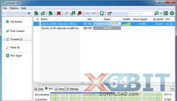 uTorrent (µTorrent) screenshot