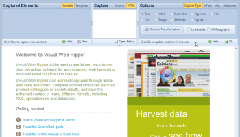 Visual Web Ripper screenshot