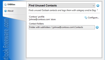 Find Unused Contacts for Outlook screenshot