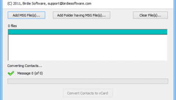 Export MSG to vCard screenshot