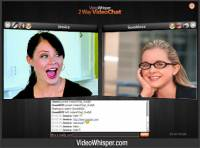 P2P 2 Way Webcam Video Chat Script screenshot