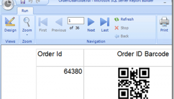 SSRS Linear Barcode Generator screenshot