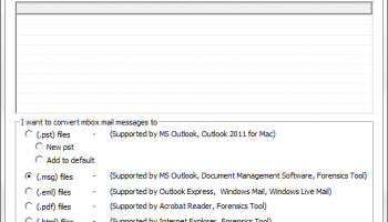 Transfer Windows Mail to Outlook 2013 screenshot