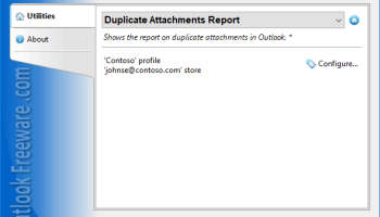 Duplicate Attachments Report for Outlook screenshot