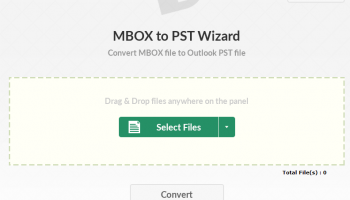 MBOX to PST Migration Wizard screenshot