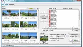 FastStone Photo Resizer screenshot