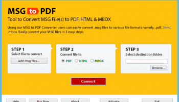 Outlook MSG Emails Save to PDF screenshot