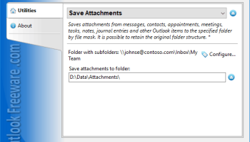 Save Attachments for Outlook screenshot