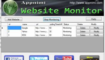 Appnimi Website Monitor screenshot