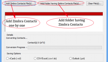 Software4Help Zimbra Contacts Converter screenshot