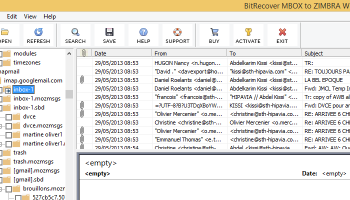 MBOX to Zimbra screenshot